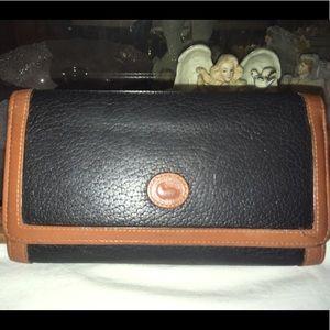 Vintage Dooney & Bourke Leather Organizer Wallet